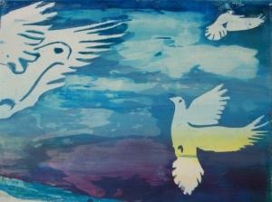 העבודה:  האמנית דבורה פלדש